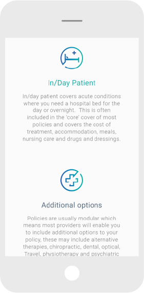 Mobile Screen Shot of insurance industry website design
