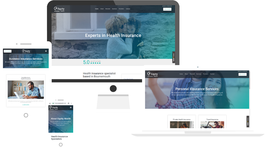 Responsive website design for insurance broker