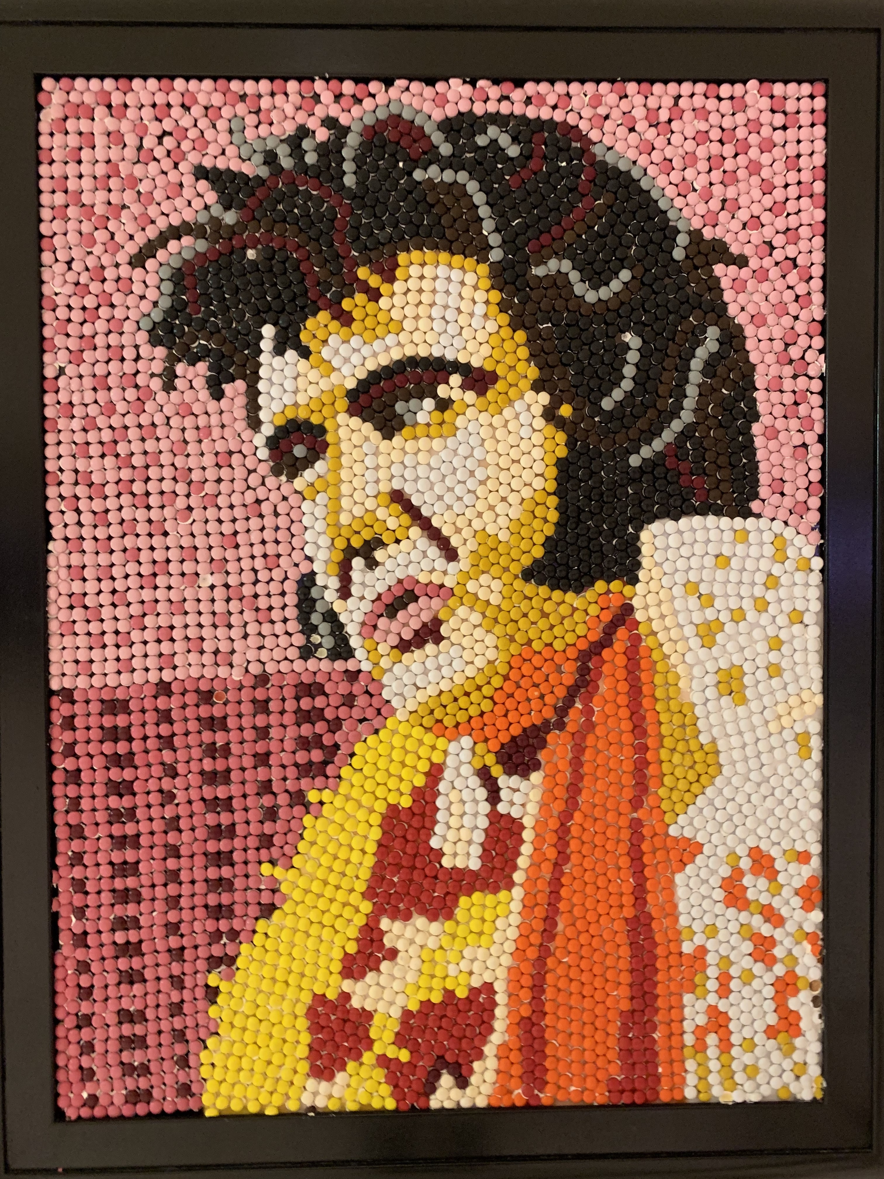 Elvis portrait, medium: M&Ms
