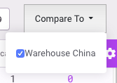select which warehouses you would like to compare