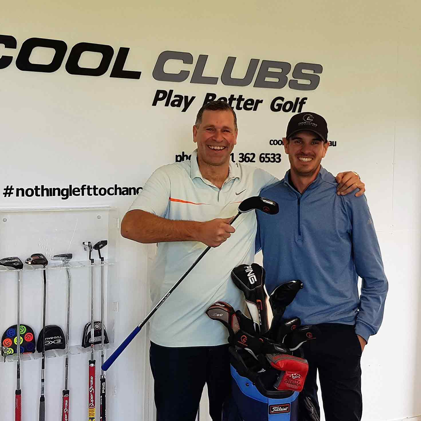 Scott stoked with his new clubs