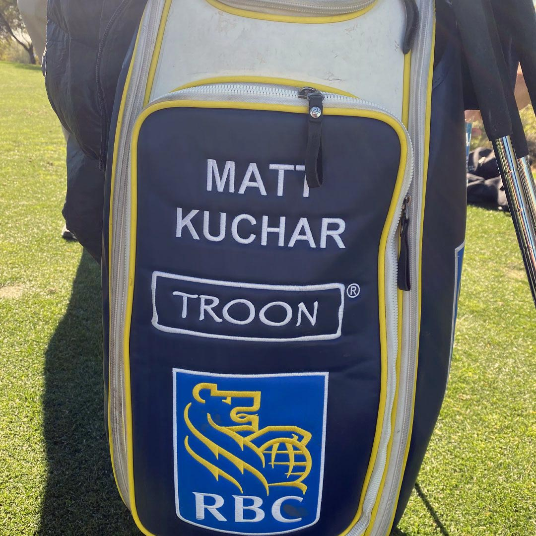 Matt Kuchar in for his Cool Clubs fitting