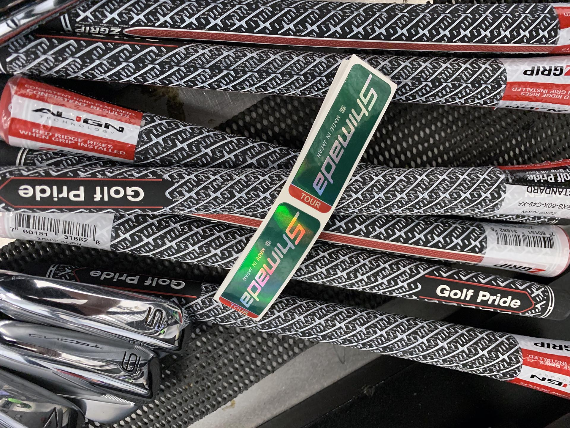 A Titleist CNCPT 02 rebuild with Shimada Tour Shafts and Golf Pride Align grips
