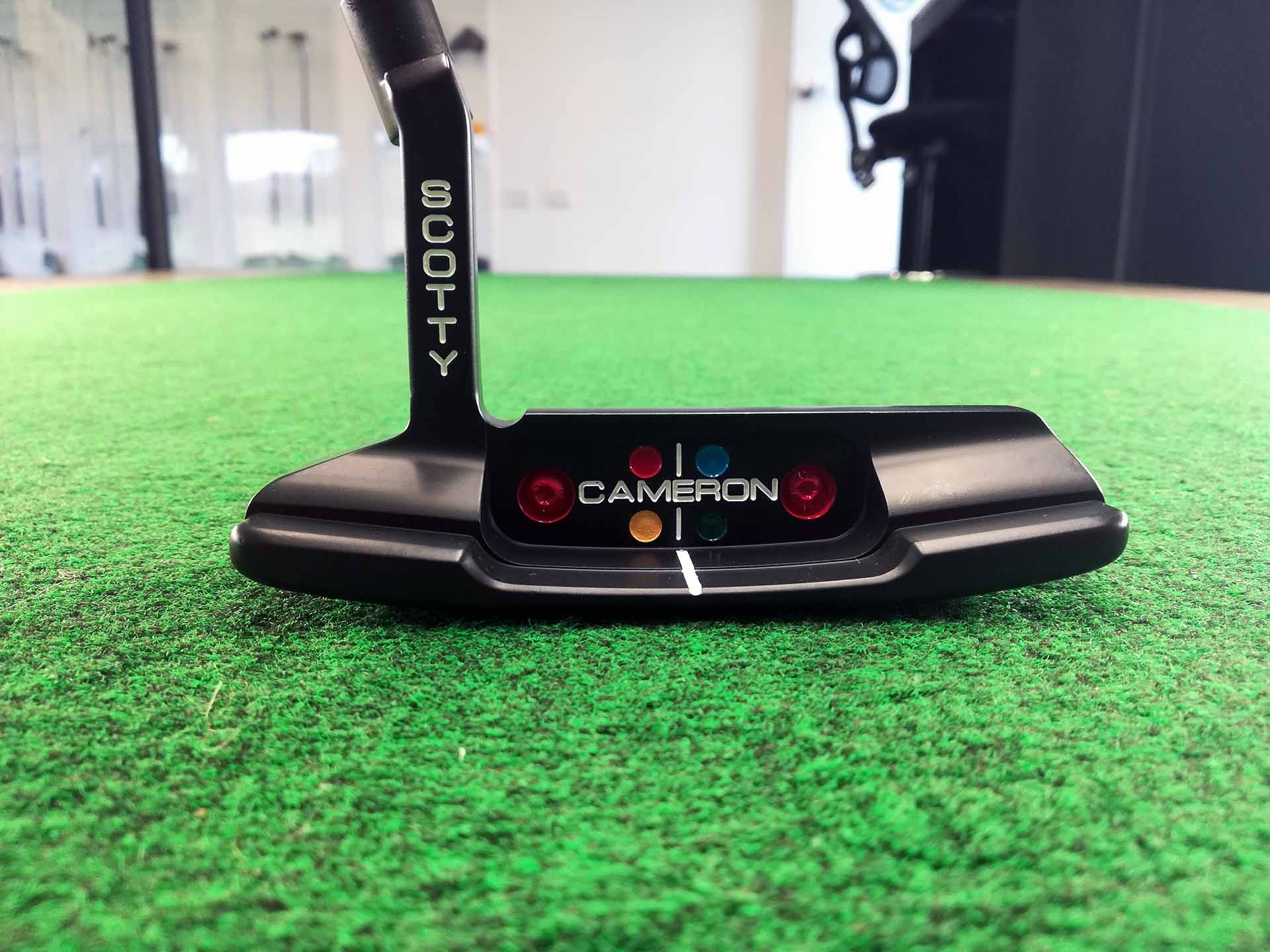 Scotty Cameron Putter Refurb with Ceramic Black Paint and Custom Infill