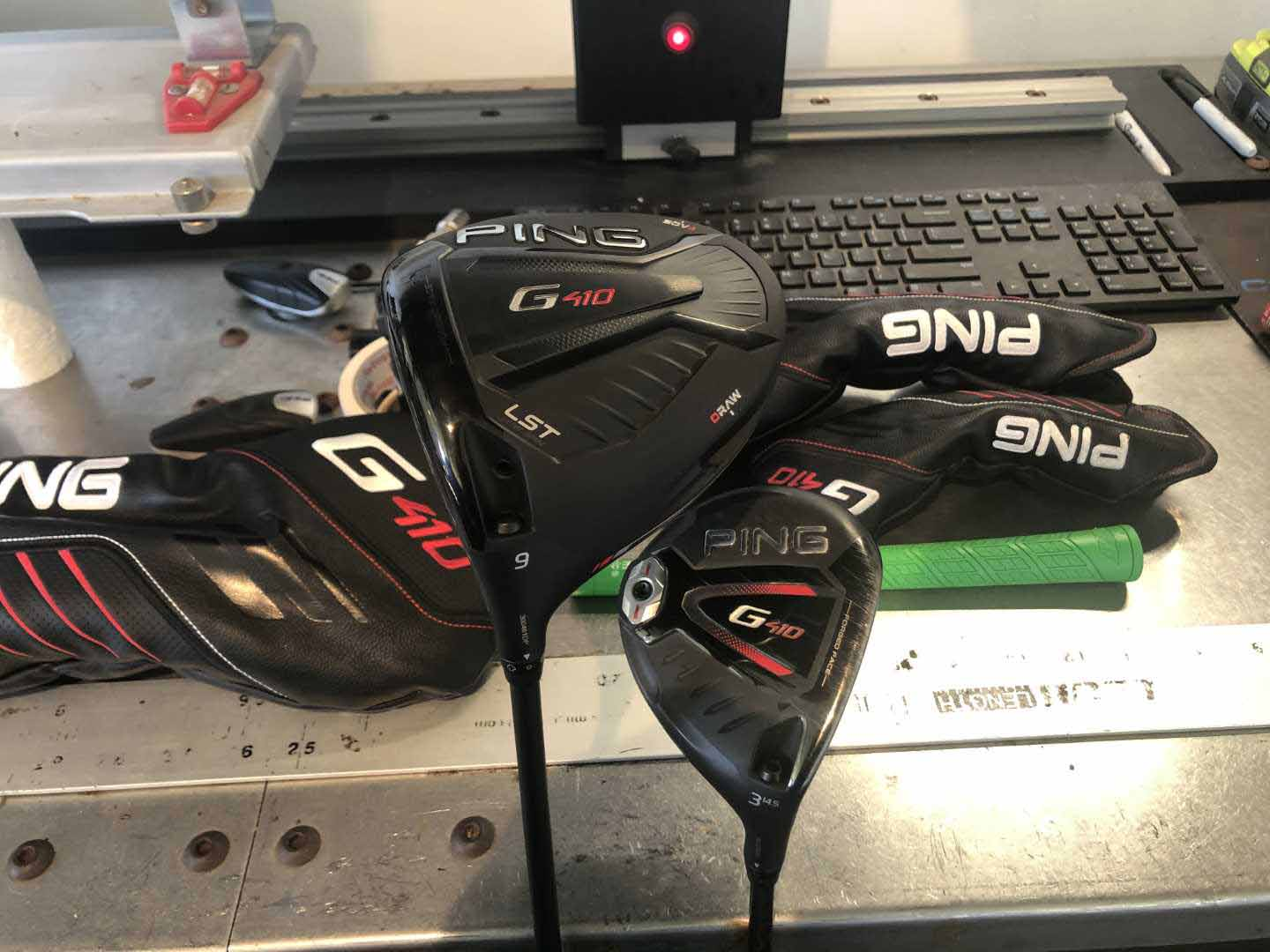 More in-house Ping builds in our Sydney location. One new G410 driver and a re-shaft of a G410 Fairway. Both with SST Pured shafts.