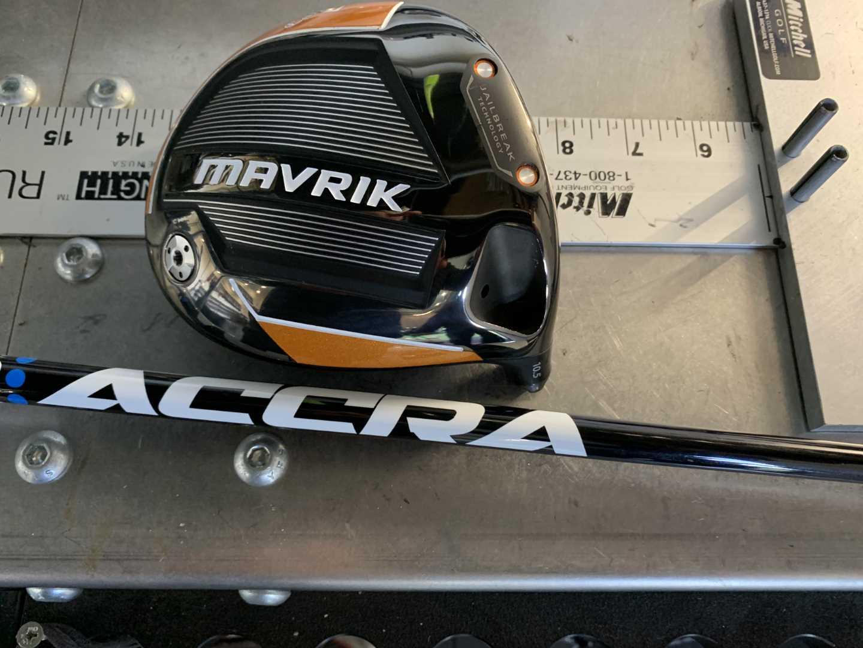 Club pickup Callaway Mavrik, ACCRA FX 2.0 150. Results 13m gain...