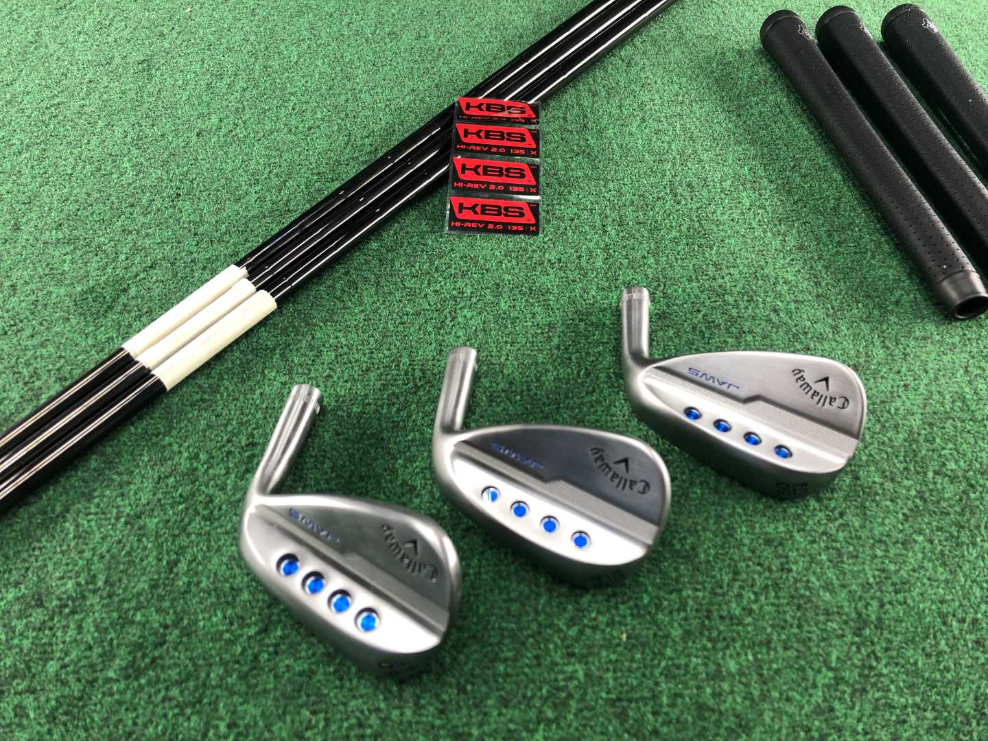 Callaway MD5 Raw wedges including the new T grind