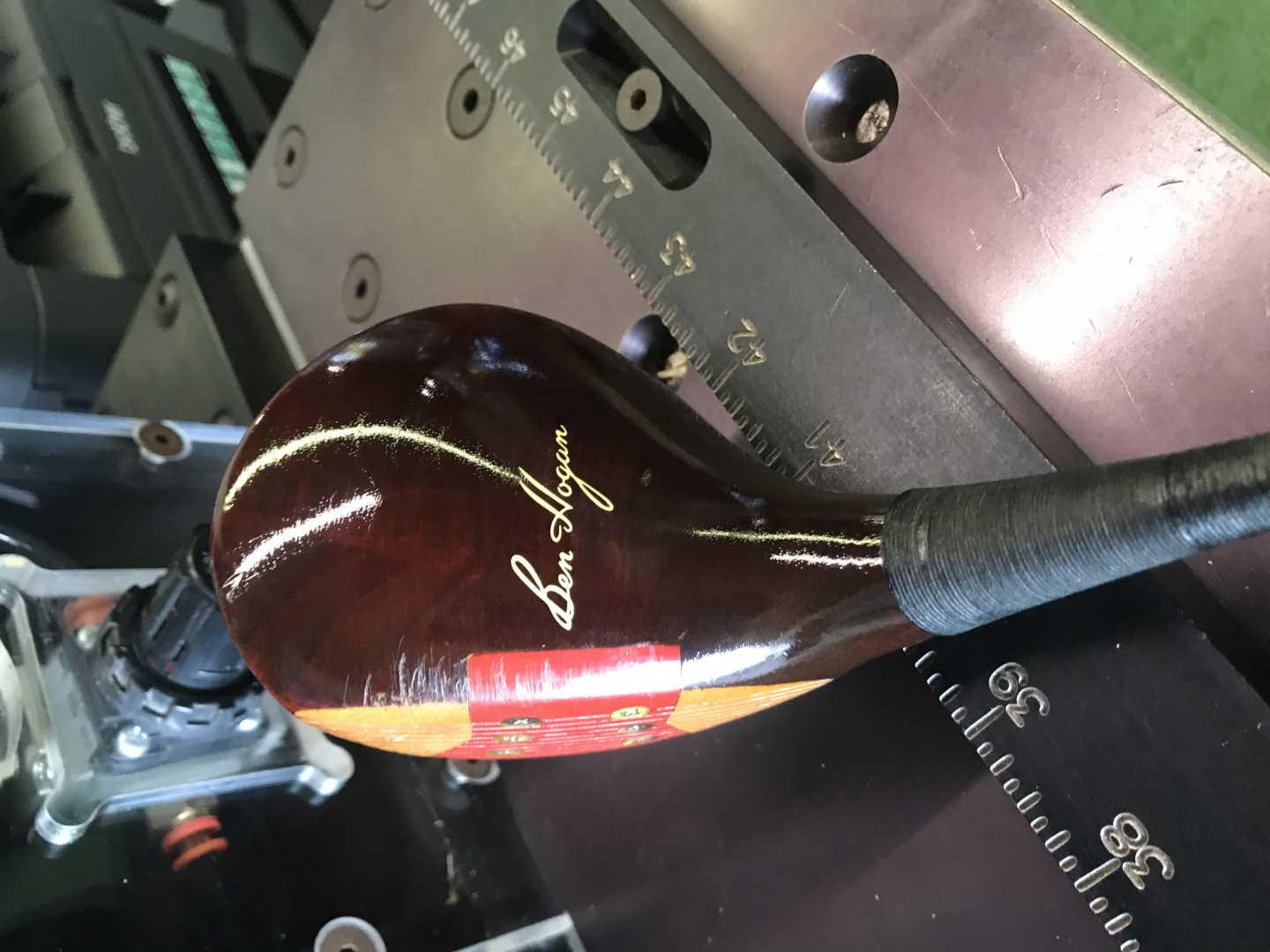 Saxon came in for a driver fitting with his fathers old Hogan driver...
