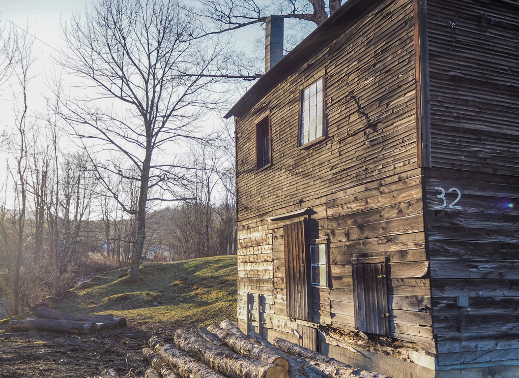 An old syrup shack in the Mad River Valley