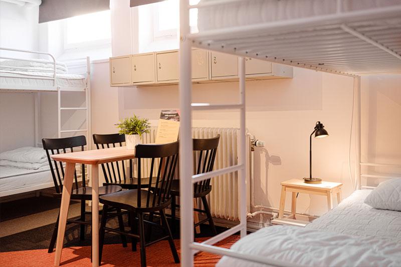 6-bäddsrum hos NY Hostel i Umeå