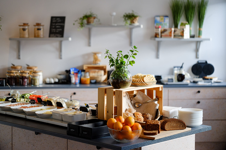 Frukostbuffé hos NY Hostel i Umeå