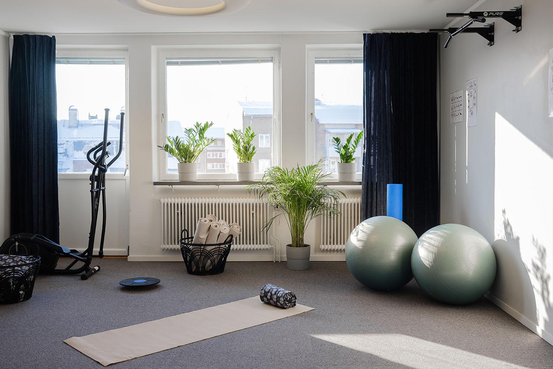 Hälsorum på NY Hostel i Umeå