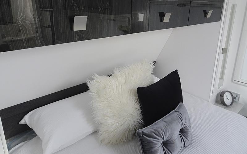 Overhead cupboards in bedroom