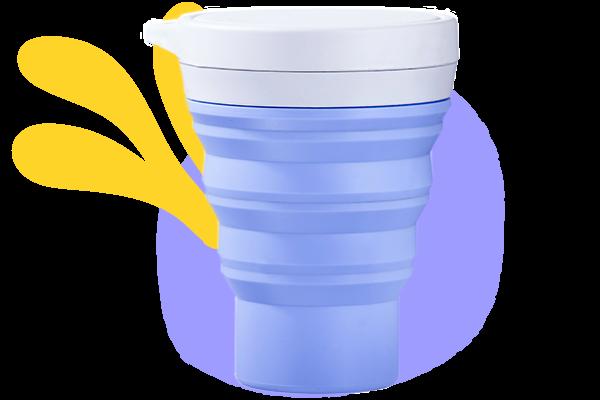 copo menos 1 lixo lavanda