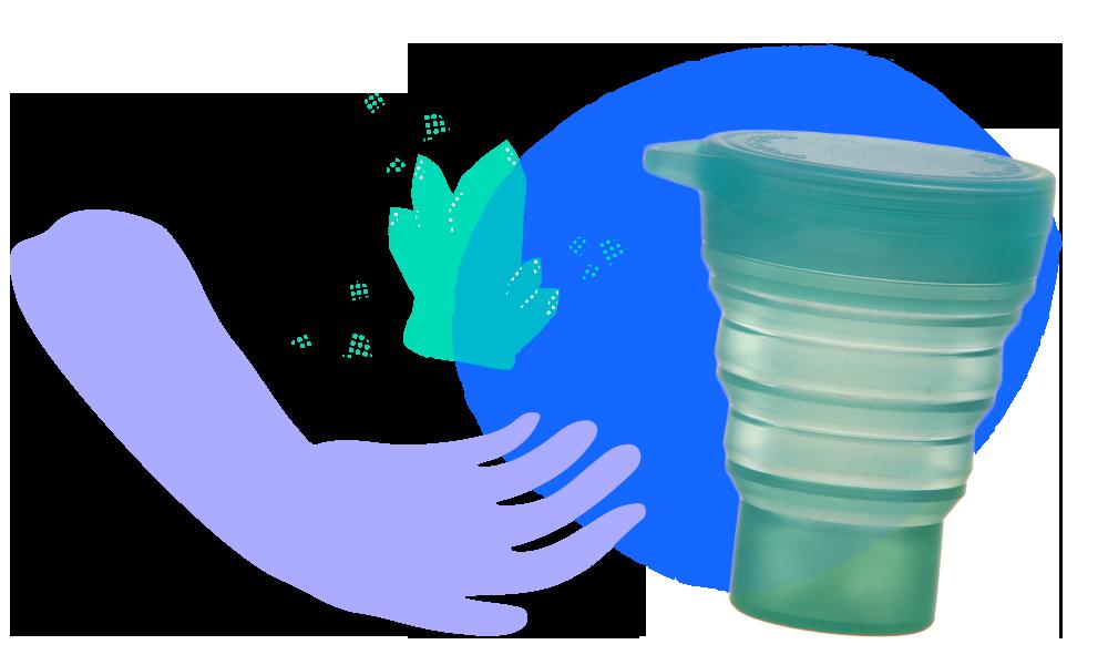 copinho menos 1 lixo quartzo verde