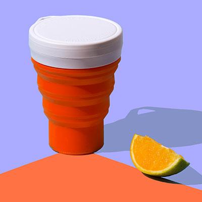 copo retrátil e reutilizável de silicone menos 1 lixo jabuticaba