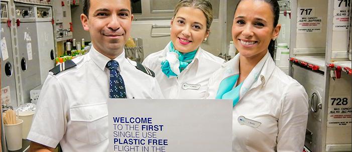 O primeiro voo sem plástico do mundo!
