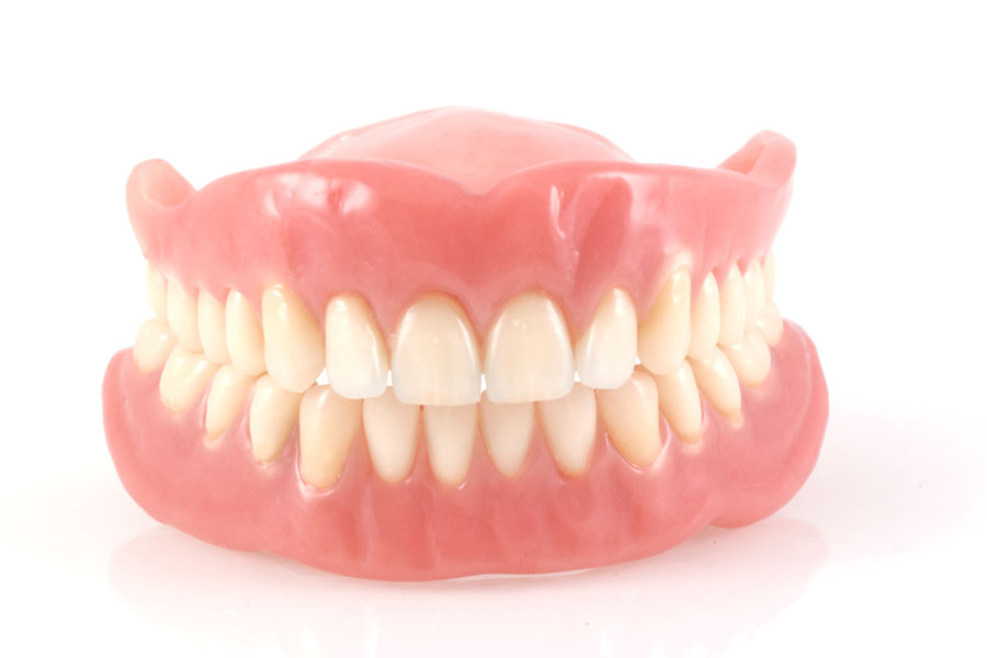 A picture of fake teeth