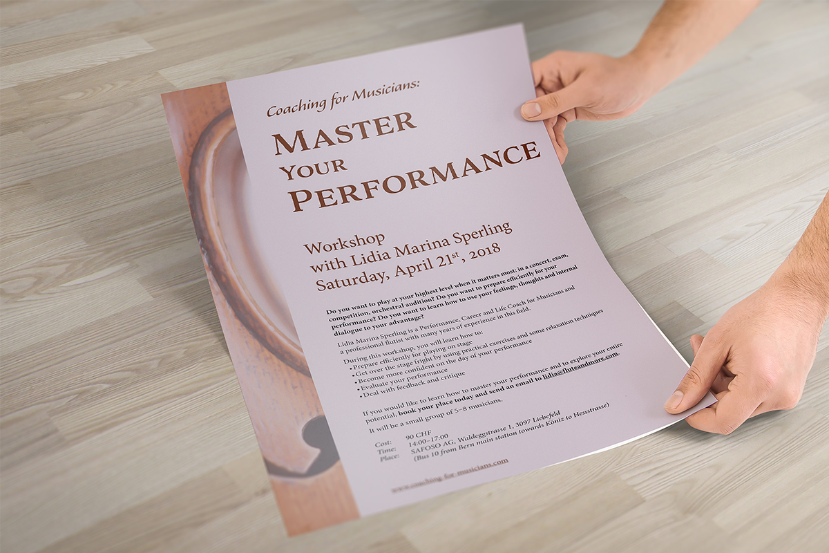 poster for workshop for musicians