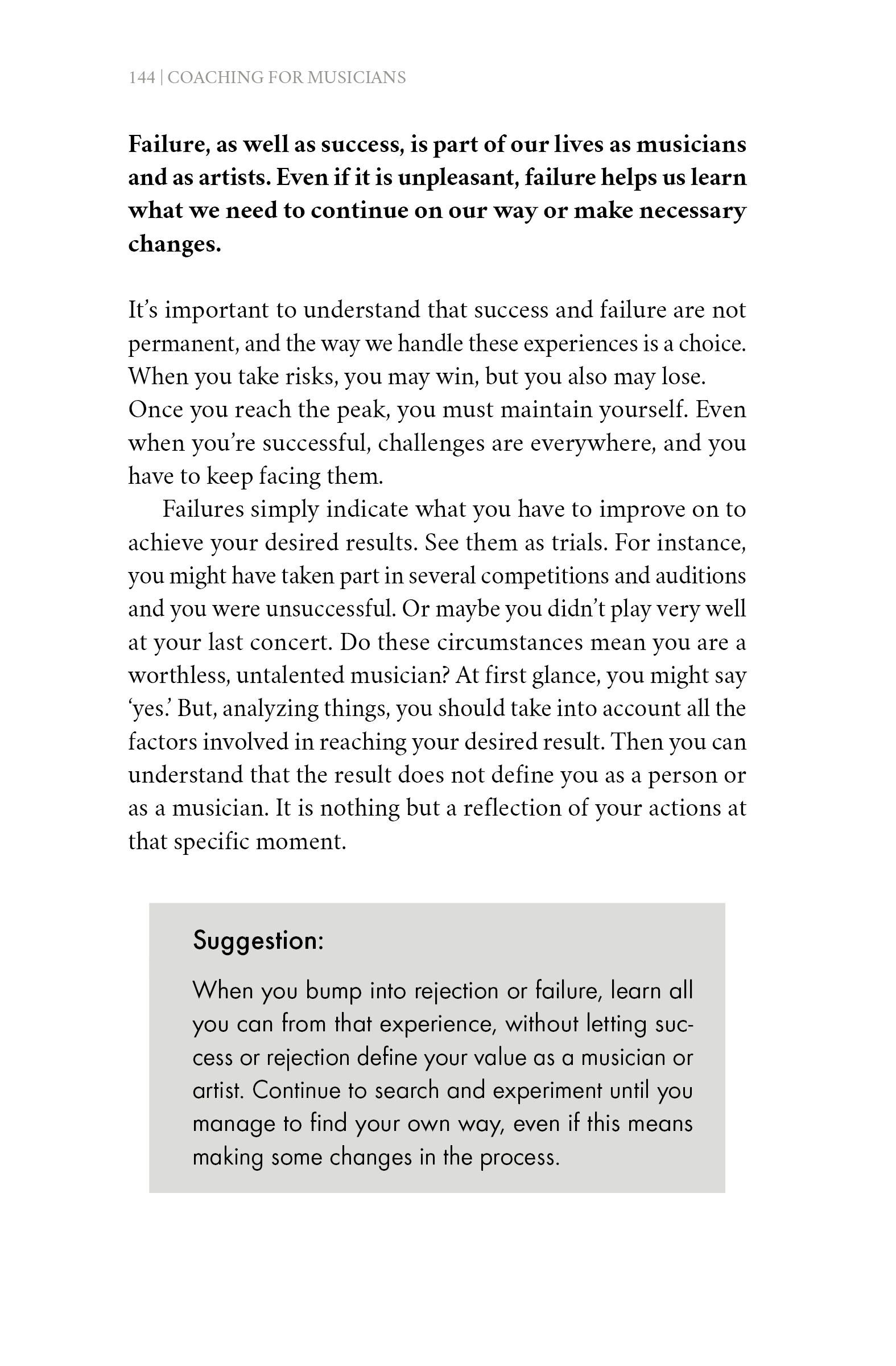 Book page 'Coaching for Musicians'
