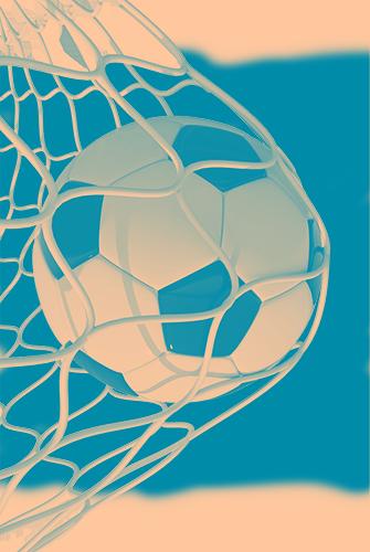 football in net
