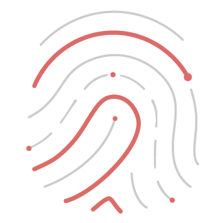 Minimalist Icon for Branding showing digital fingerprint