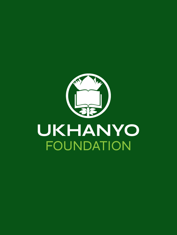 Ukhanyo Foundation Logo in white over green background