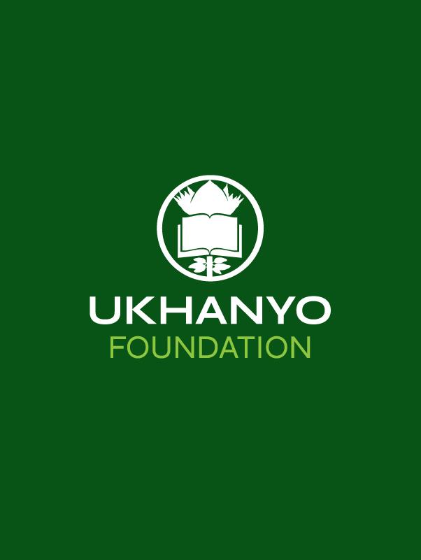 Ukhanyo Foundation Logo in white over green background