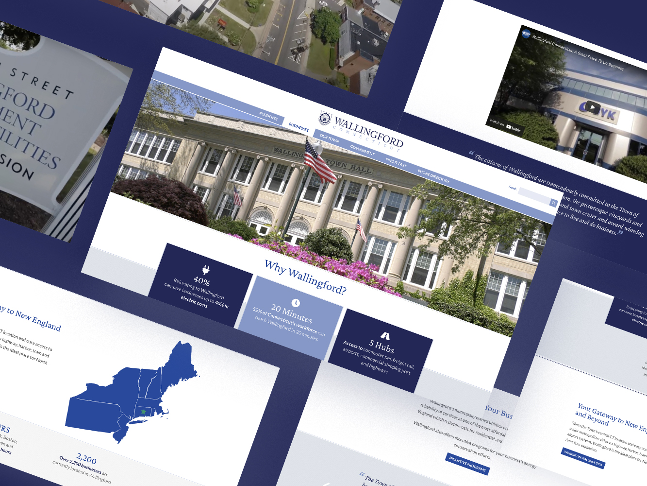 Thumbnail for Case Study: Helping Businesses Find Their Home In Wallingford CT –Positioning, UI/UX Design