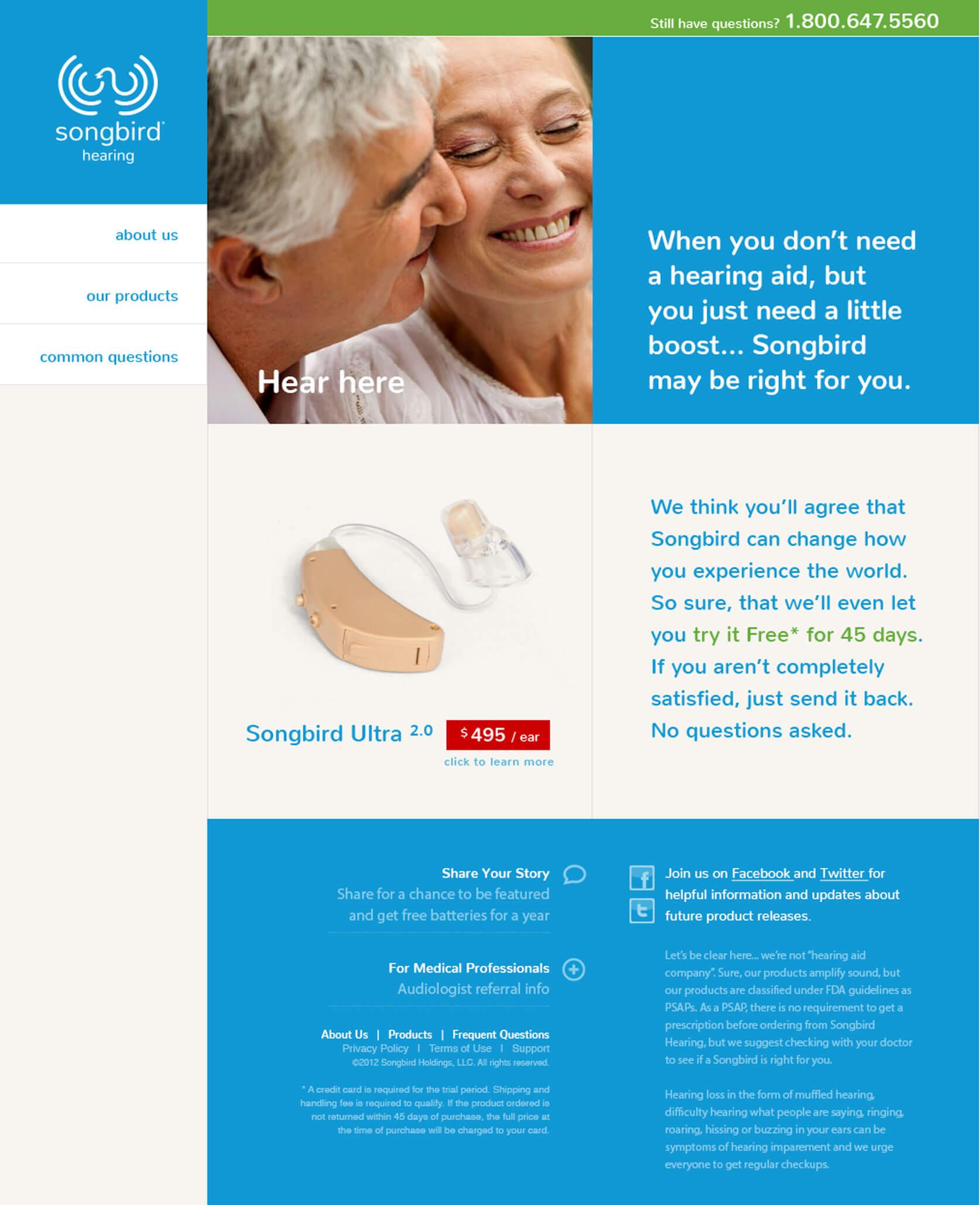Songbird Hearing Website