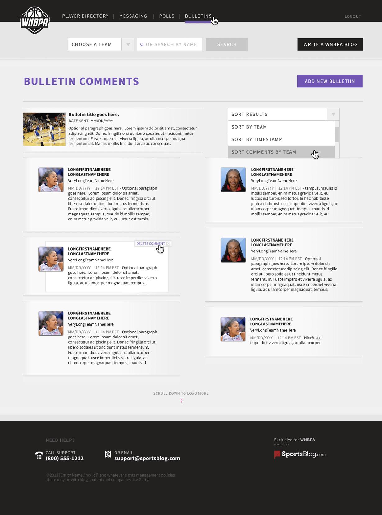 WNBPA Bulletin Comments