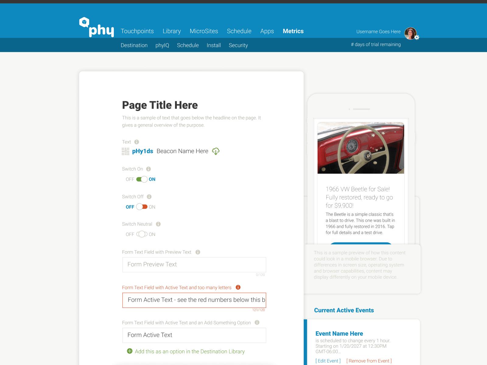 Phy Platform UX/UI Standards