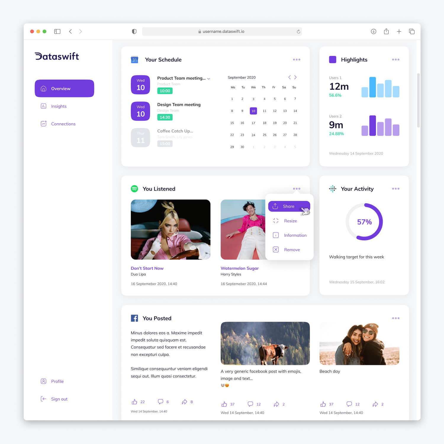 Dataswift Personal Data Platform UX