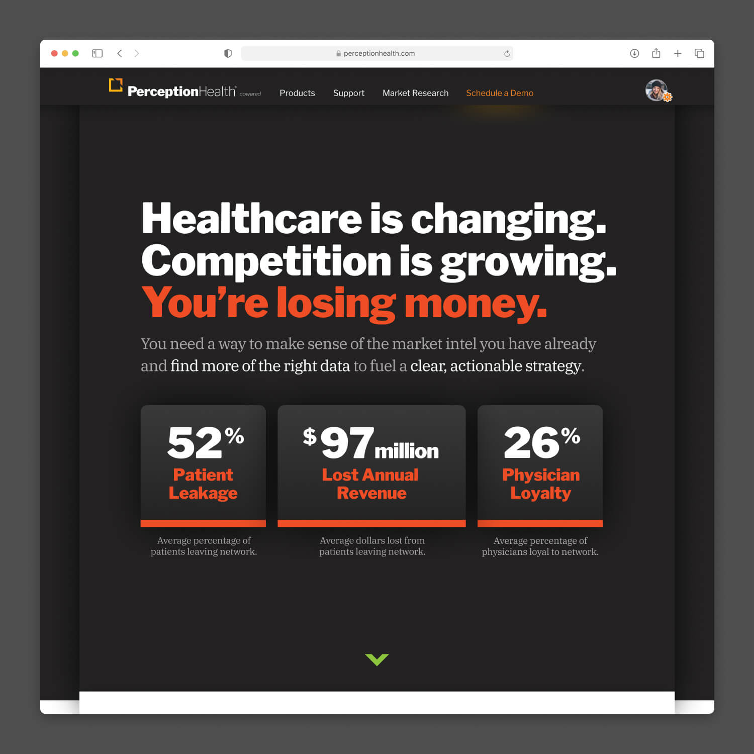Perception Health UX, UI, and  Creative Direction