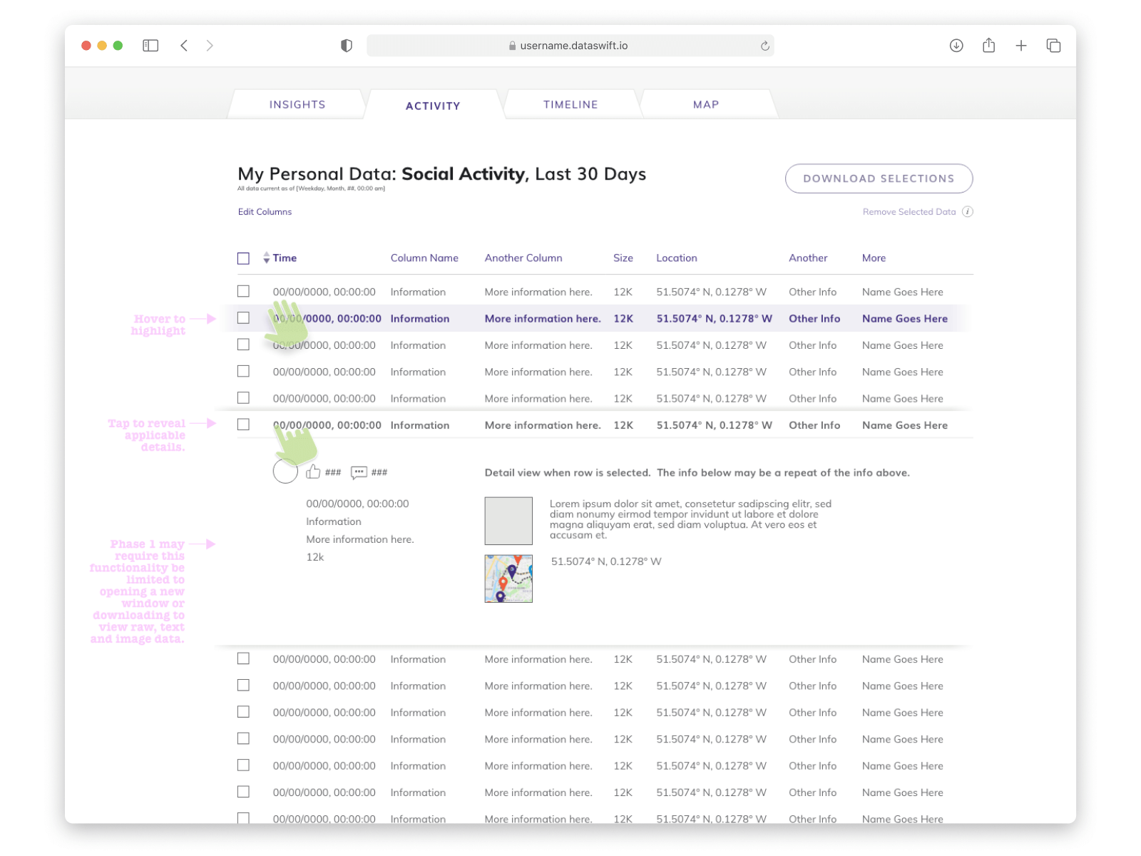 Dataswift Platform UX