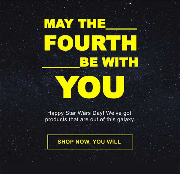 Star Wars Email Newsletter Template from Seguno