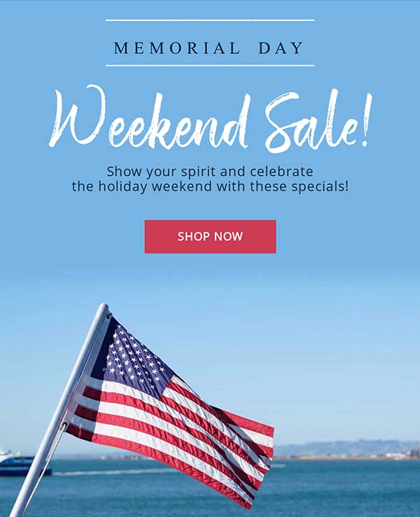 Memorial Day Email Newsletter Template from Seguno
