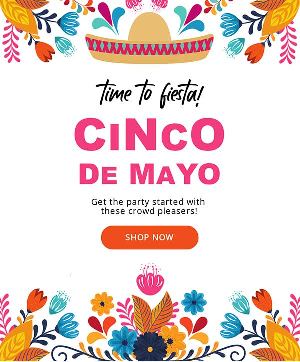 Cinco De Mayo Email Newsletter Template from Seguno