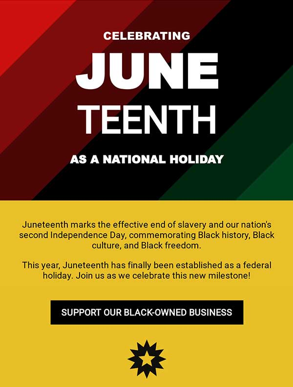 Juneteenth Email Newsletter Template from Seguno