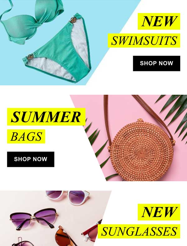Fashionable Summer Sale Email Newsletter Template from Seguno