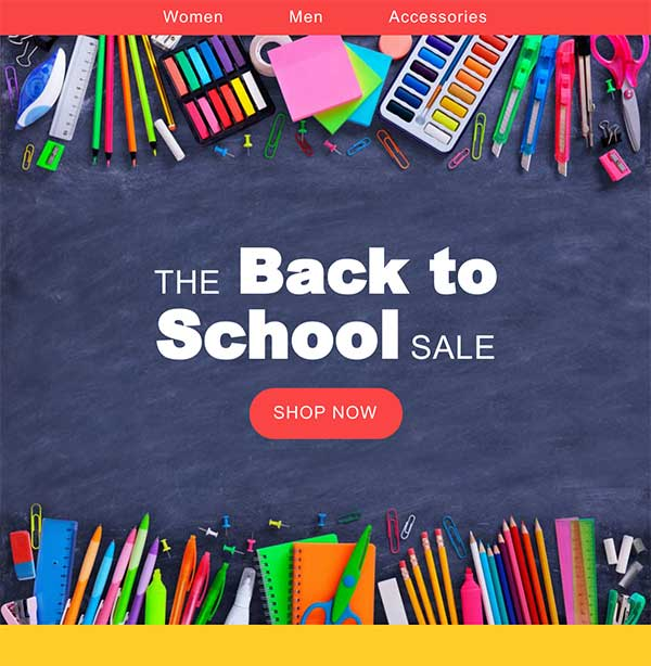 Back to School Email Template - Seguno Email Marketing