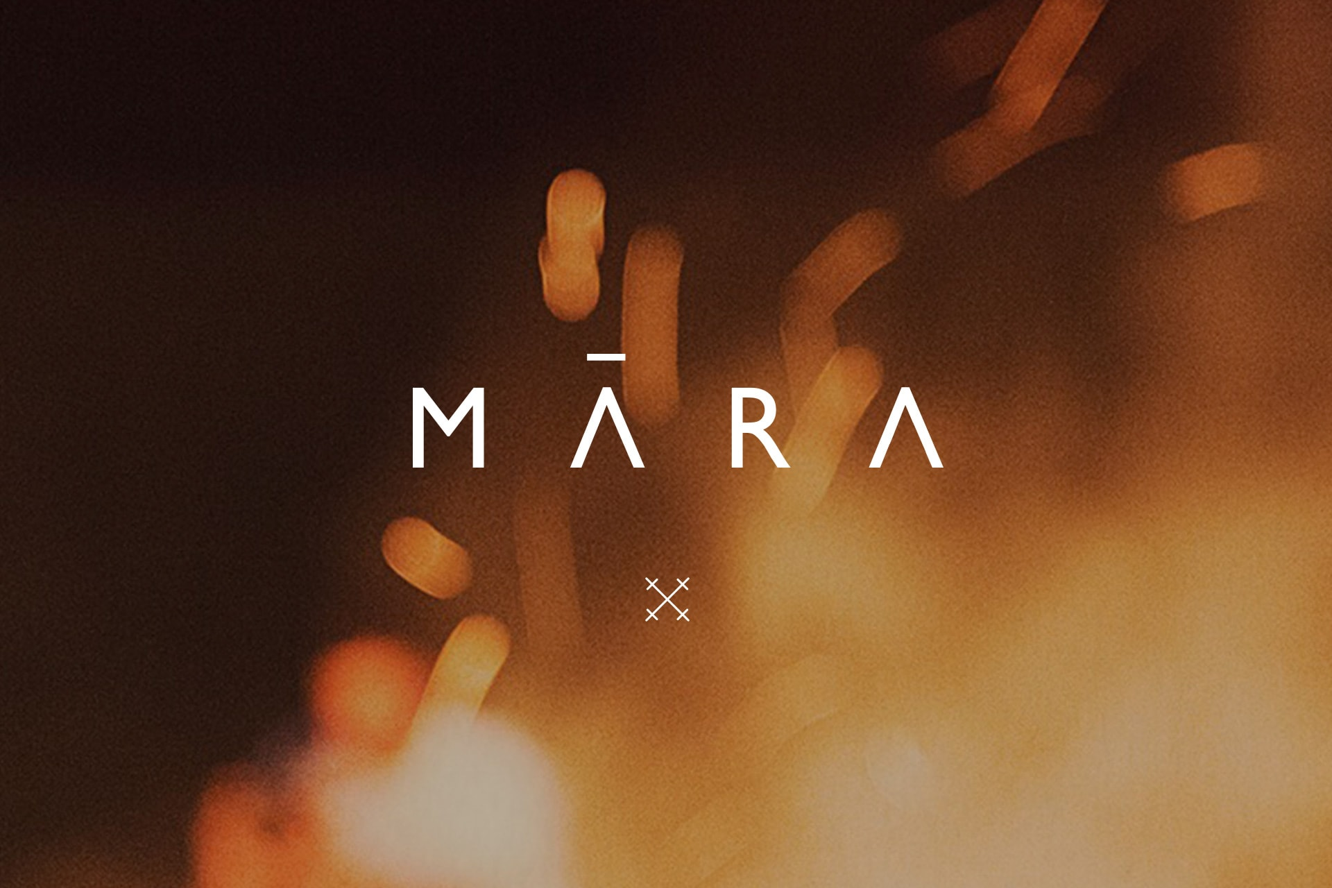Photo of ambient sparks with Mara logo