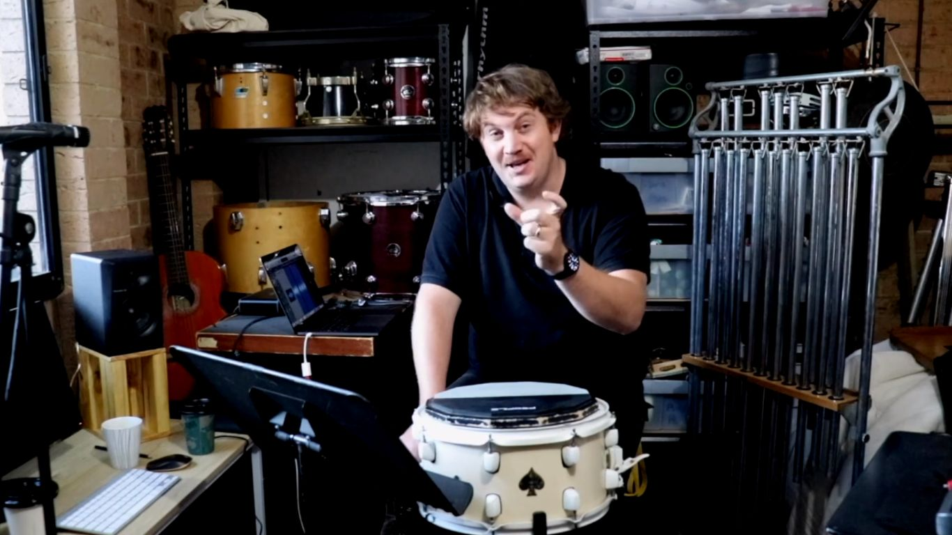 Drumming – 3. Who's going to play that tricky snare drum part? I guess it's me! Part 1