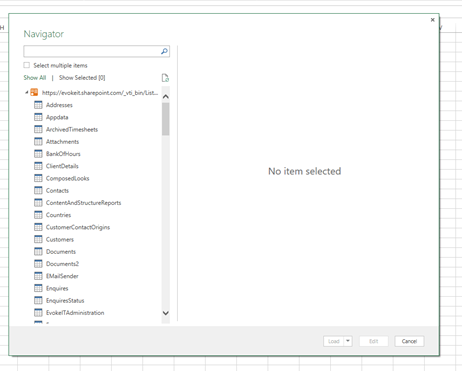 Using Power Query to Load SharePoint List Data in Excel