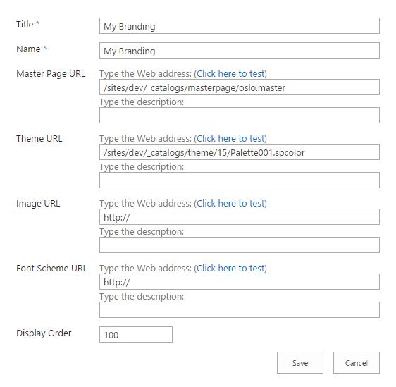 Create Custom Colour Themes for SharePoint 2013