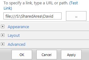 Access a Network Drive through Microsoft SharePoint