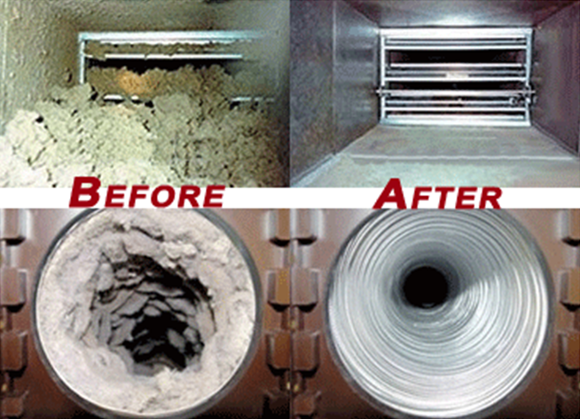 dirty air ducts vs clean air ducts