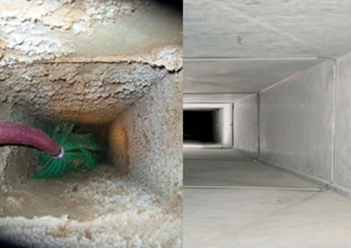air duct before and after