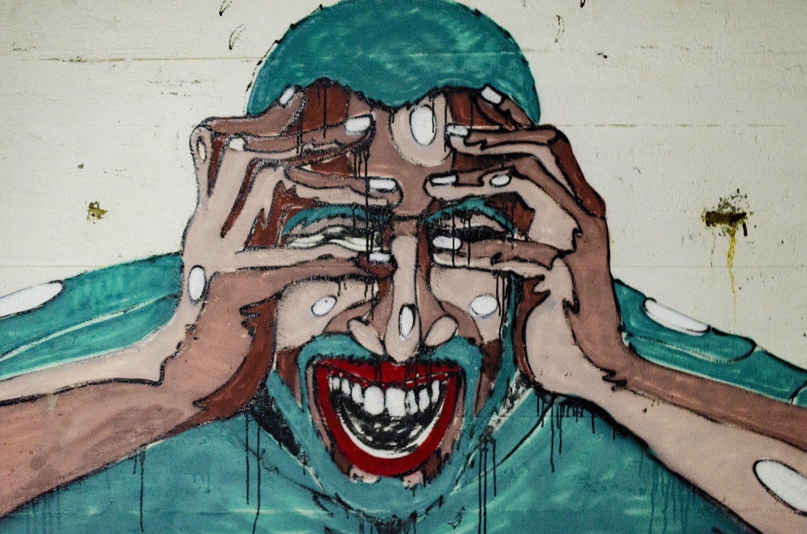 Natural Remedies For Anxiety: graffiti of man struggling
