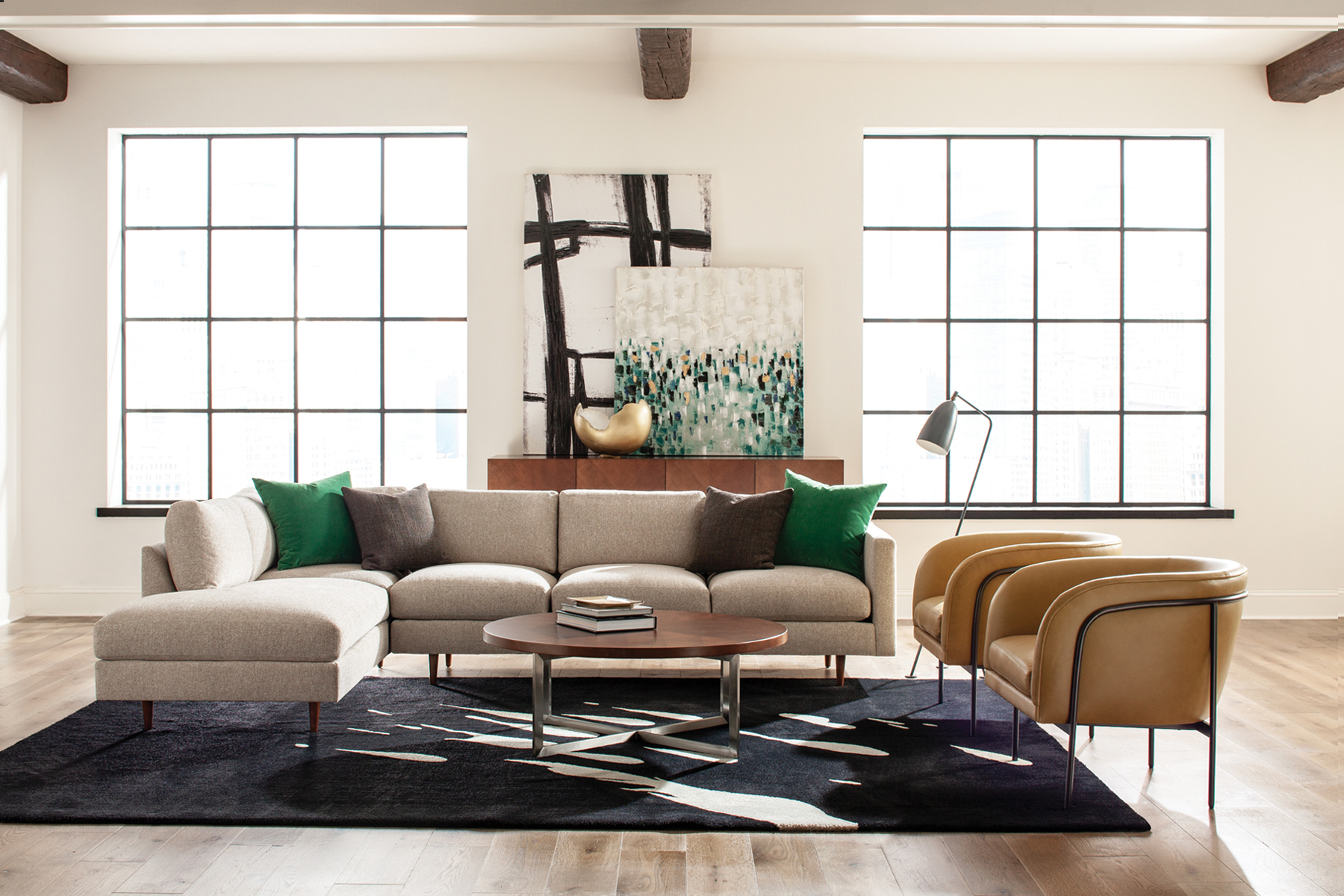 855 Design Classic Sectional from Thayer Coggin
